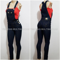 Macacão Jeans Com Elastano, Jardineira Jeans !!!!