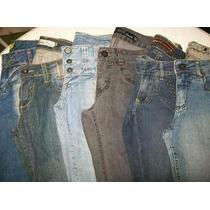 Calça Jeans Feminina Lote Com 10 Pças