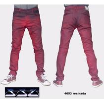 Calça Resinada Vermelha Skinny Gangster C/ Elastano Promoção