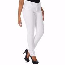 Calça Jeans Feminina Branca Sawary Levanta Bumbum