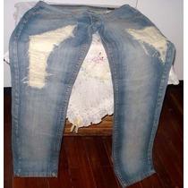 Calça Jeans Feminina Marca Denin Da Moda Tam.44 S/strech #x