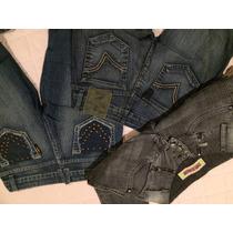 Lote Calça Jeans Femin Zoomp, Ellus,canal Da Mancha Bazar
