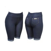 Kit C/10 Bermuda Legging Malha Jeans (imita Jeans)