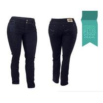 Linda Calça Jeans Feminina Plus Size Lycra Cos Alto 2081