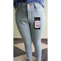 Calça Jeans Colorida Cintura Alta Levanta Bumbum Frete Grati
