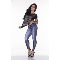 Legging Fake Jeans 2292 Fitness Lipsoulgirls Original