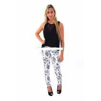 Calça Jeans Biotipo Feminina Floral Skinny Feminina