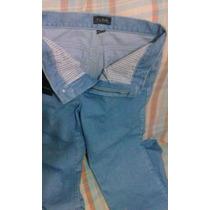 Calça Jeans De Marca Tradicional Cintura Alta