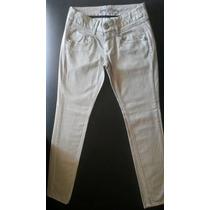 Calça Jeans Feminina Cinza Resinada Da Zoomp