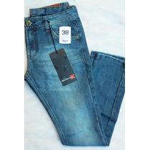 Calça Jeans Slim Fit Squadrão X Masculina Tam 38 (novo)