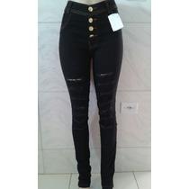Kit Com 15 Shorts Mais 5 Calças Jeans Com Lycra Cintura Alta