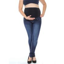 Sawary Calça Jeans Para Gestante Com Barrigueira Confortavel