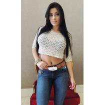 Calça Jeans Set Basic Line Skinny Com Ziper E Cinto White