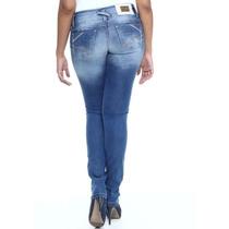 Calça Jeans Sawary Legging,linda , Feminina Levanta Bumbum