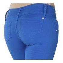Calça Country Os Vaqueiros Feminina Color Azul Bic