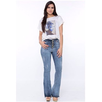 Calça Flare Jeans Detonada Ou Hot Pant Handara Promoção