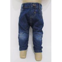 Calça Jeans Saruel Bebê Menino Regulagem Largura Mto Macio