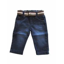 Calça Jeans Infantil Menino Com Cinto Kd 3205