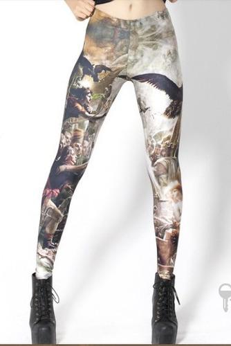 Calças Leging Imitam Jeans Feitas Com Spandex Importadas