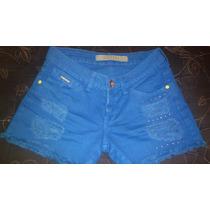 Short Jeans Azul Bic Desfiado Marca Linda Z Promoção Frete G