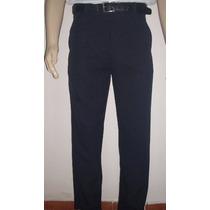 Calça Social Masculina Tecido Oxford Azul Marinho Ou Preto