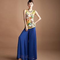 Calça Pantalona Importada- M - Feminina Elegante Chic Azul