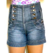 Short Jeans Sawary Sabrina Sato, Cintura Alta, Lycra - Nº 38