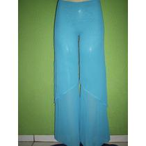 Calça Pantalona Crepe De Seda Blusa Cheroy Tamanho 42