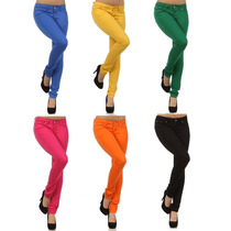 Calça Legging Skinny Jeans Color!!