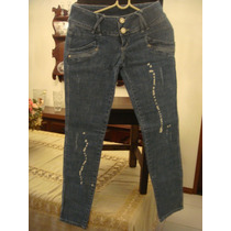 Republic Mix Calça Jeans Tam. 38 Detalhe Branco