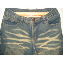 Calça Jeans Sawary Tam 42 Tipo Capri C/ Bordados Na Barra