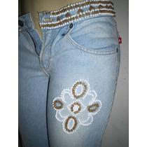 Calça Jeans Clarinho Customizada 40