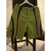 Bermuda Infantil Verde Tam. 08 Anos Short Criança Tac Tel