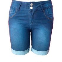 Bermuda Jeans Lixada C/ Detalhe Traseiro