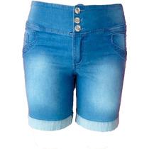 Bermuda Jeans Lixada C/ Elastico Traseiro - 38 Ao 54 (tamanh