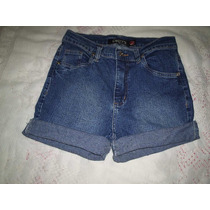 Shorts Jeans Cintura Alta Tamanho 38