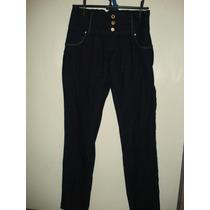 Calça Jeans Da Marisa C/ Tachas Dourada/ C/ Elastano Tam 42