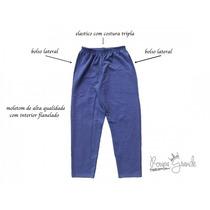 Calça De Moletom Azul - Tamanhos Grandes P Gg Eg X2 E X3