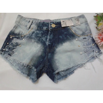 Short Jeans Original Customizado Estilo Anita Destroyed