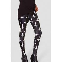 Legging Importada - Estampa Black Milk - Cruz / Cruzes