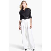 Pantalona- P Importada, Modelo Clássico, Elegante, Em Linho