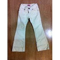 Calça Branca Jeans Flare Da Canal Kids! Tamanho 4! Promoção!
