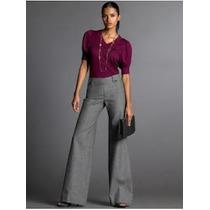 Pantalona Eg Calça Importada Elegante Flare Luxuosa Casimira