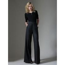 Calça Pantalona Pp Importada Executiva Elegante Em Casimira