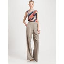 Pantalona Eg Calça Importada Sofisticada E Elegante Em Linho
