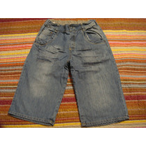 Bermuda Short Jeans Menino Tam. 10 Anos Ajustavel Cintura