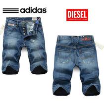 Bermuda Jeans Adidas Masc New 2015 Original - Importadas