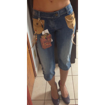 Calça Feminina Jeans Capri Dolce & Gabbana Glamourosa