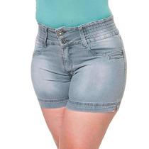 Shorts Cinza Jeans Bermuda Moda Plus Size Gordinha - Bronze