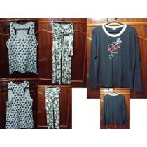 Lote Com 3 Peças De Roupa Feminina Camiseta Calça E Blusa P